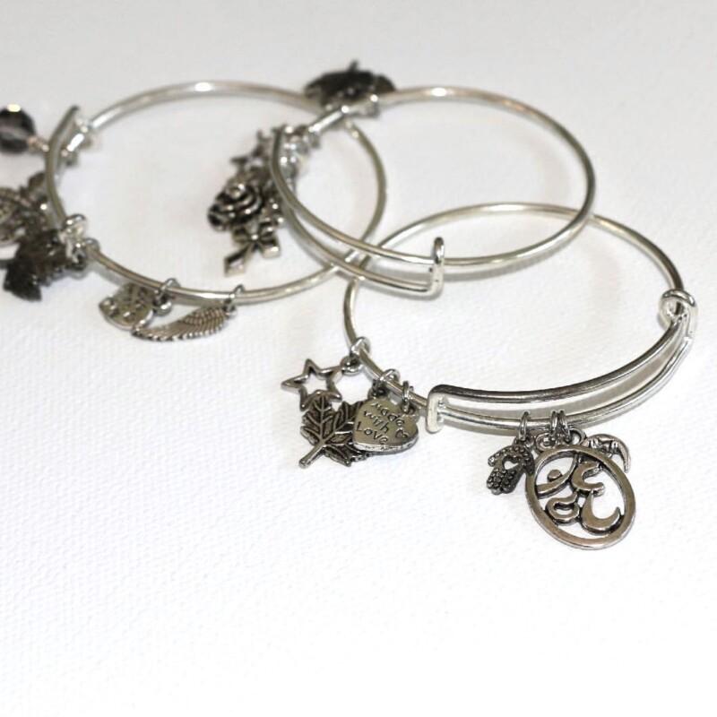 Silver Colour Charm Bracelet