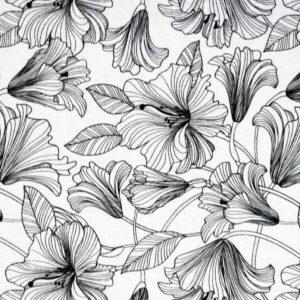Black-Line-Floral -Colour Your Own