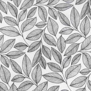 Black-Line-Leaves-Colour Your Own