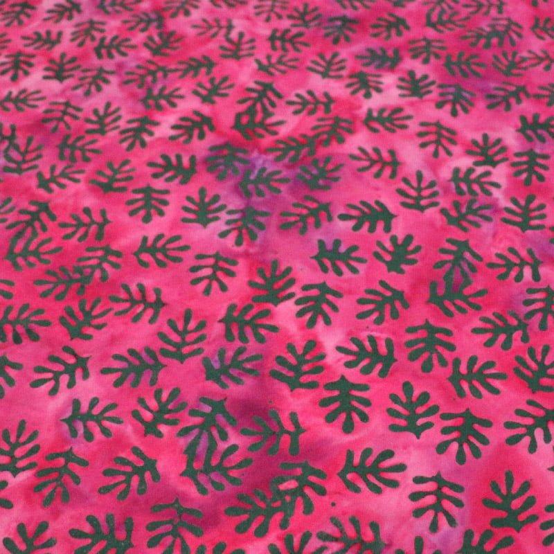 Batik Leaves Pink