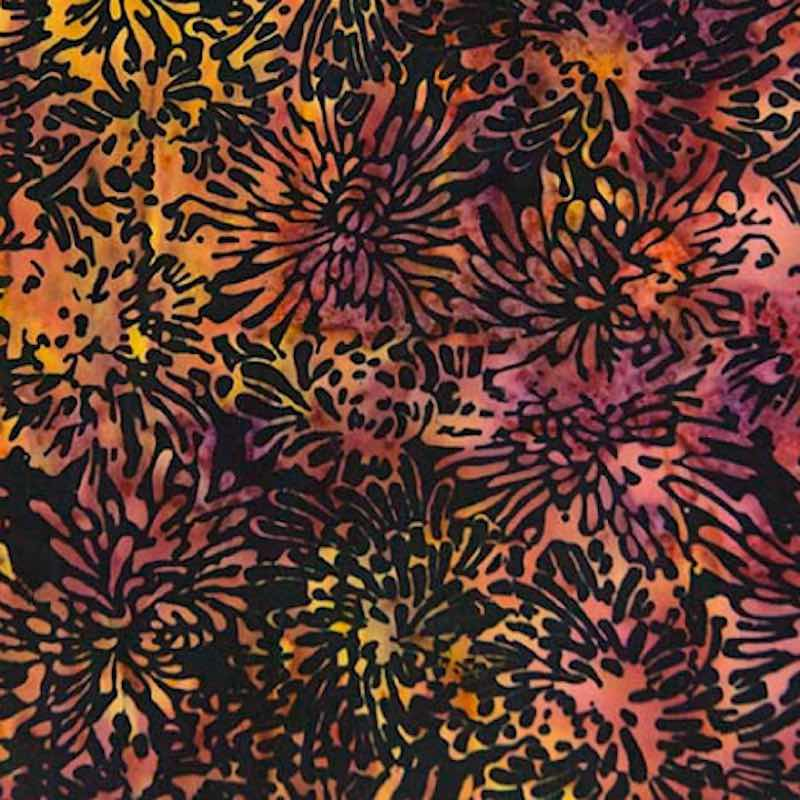 Batik Zinnias