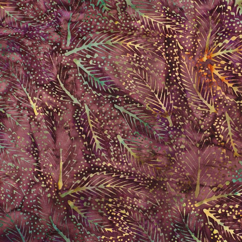 Batik Leaves Dark
